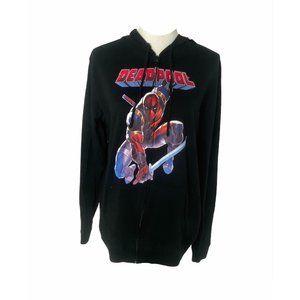 ~Men's large marvel Deadpool hooded sweatshirt